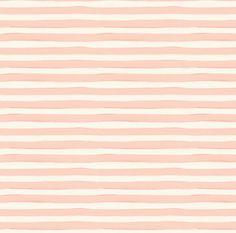 Pink Watercolor Fabric  Watercolor Stripe Blush By by Spoonflower