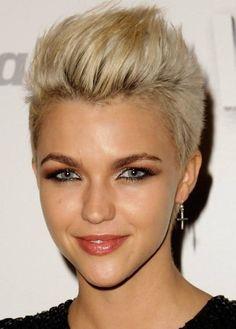blonde fauxhawk - Bing Images