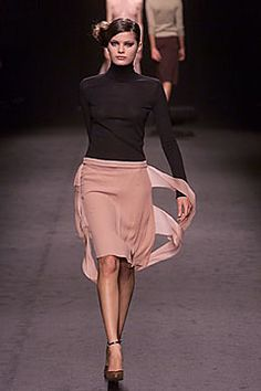 Alessandro Dell'Acqua. I like peach skirt and black sweater