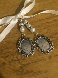Bridal Bouquet Double Oval Photo Frame Memory Charm Wedding Handmade by…