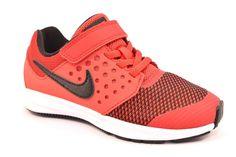 timeless design 1deef e1534 NIKE 869970 600 DOWNSHIFTER 7 Sneakers Bambino Strappo Rosso Nero Nylon  Bianco