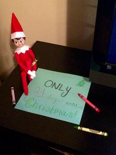 Day 1 - Elf on the Shelf for my toddler, Landon