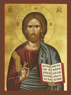 Icon of Christ Blessing – Orthodox Icons, Jesus Christ, Catholic, Mona Lisa, Blessed, Artwork, Prints, Teacher, Writing