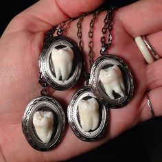 Locket Necklace, Necklaces, Antique Silver, Bones, Pearl Earrings, Antiques, Pendant, How To Make, Pictures