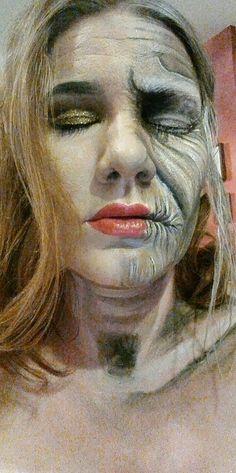 Aging Diva facepainting die Halloween by Sabrina Hoffmann Face Art, Diva, Halloween Face Makeup, Painting, Paintings, Draw, Drawings, Makeup Art