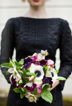 whites + purple bouquet | utterly engaged mag
