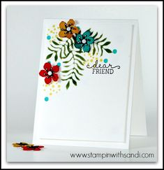 card making and paper crafting designer Sandi Maciver shares Botanical Blooms for freshly made sketches Card Making Inspiration, Making Ideas, Hand Made Greeting Cards, Card Tricks, Wood Stamp, Beautiful Handmade Cards, Cards For Friends, Pretty Cards, Card Sketches