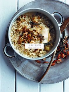 Risotto- Cauliflower, almond, and sage risotto- Delicious!!