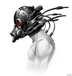cyborg head design