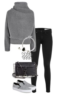 """""""Untitled #207"""" by elliedella ❤ liked on Polyvore featuring rag & bone, Acne Studios, Kenneth Jay Lane, Vans, Rebecca Minkoff and Topshop"""