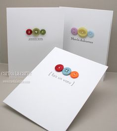 Easy handmade card with buttons! Love the simplicity.