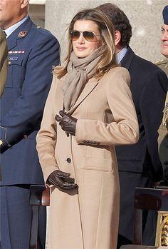 Letizia Ortiz in Camel Coat