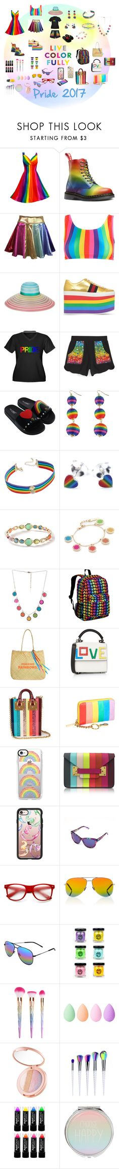 """Live Color Fully/ Pride 2017"" by neesyrn on Polyvore featuring Missoni, Gucci, Terez, Via Pinky, INC International Concepts, Ippolita, Marc Jacobs, Wildkin, Les Petits Joueurs and Sophie Hulme"