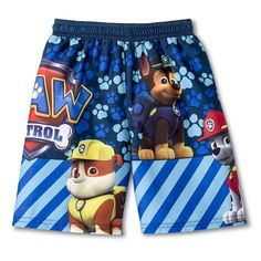 Toddler Boys' Paw Patrol® Swim Trunks  - Blue