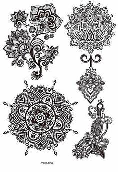 Cheap flower tatoo, Buy Quality flash tattoo stickers directly from China tattoo sticker Suppliers: Rocooart Tattoo Sticker Sexy Hanna Female Black Lace Bride Temporary Flash Tattoo Stickers Body Art Flowers Tatoo Hawaiianisches Tattoo, Flash Tattoo, Full Tattoo, Lotus Tattoo, Wrist Tattoo, Tattoo Set, Mandala Tattoo Design, Dotwork Tattoo Mandala, Tattoo Designs