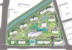 杭州融信万科古翠隐秀示范区 / 翊象设计 Landscape Walls, Urban Landscape, Landscape Architecture, Landscape Design, Architecture Design, Water Curtain, Space Systems, Floating Platform, Urban Design Diagram