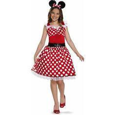 red minnie mouse tween halloween costume walmartcom