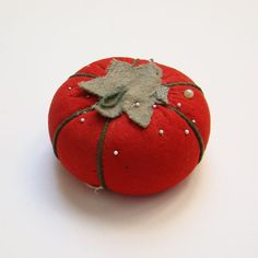 Vintage Sewing Red Tomato Needle by thenewenglandhuswife on Etsy