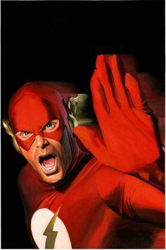 The Flash getting ready to pimp slap Gorilla Grodd Art by Alex Ross Alex Ross, Comic Book Artists, Comic Artist, Comic Books Art, Dc Vibe, Star Trek, O Flash, Flash Art, Flash Barry Allen