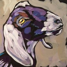 "Kat Corrigan: Paint!: Nov 4, ""Get the Goat Out!"" This is a great example of color and value! Dang I am happy with it!"