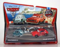 Disney / Pixar CARS 2 Movie Exclusive 155 Die Cast Car 2Pack Professor Z Tyler Gremlin Maters Secret Mission by Mattel. $39.98. NOT MANY OUT THERE. VERY HARD TO FIND. WALMART EXCLUSIVE. NOT EVERY STORE GOT THEM. 2011 DISNEY PIXAR MOVIE CARS 2 EXCLUSIVE PROFESSOR Z AND TYLER GREMLIN 2 PACK.