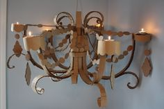 DIY  Cardboard Chandelier Tutorial