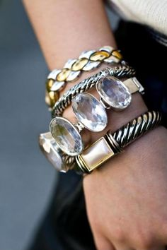 What gorgeous #naildesign can you think of to go with these trendy bracelets?