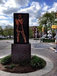 Ann Dancing, an animated sculpture of LED lights brings this section of Indy CulturalTrail to life! (c) GTH & Marc Kassouf