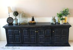 Buffet makeover Pottery Barn style-LOVE IT!
