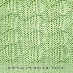 [Knitting in the round] Beautiful and easy knit textured stitch. Simply knit and purl stitches