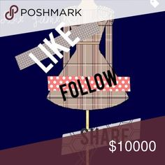 Follow Game! Increase your followers!   1. Like this listing                                                 2. Follow everyone who liked this listing               3. Share this listing  Watch your followers grow! torrid Tops