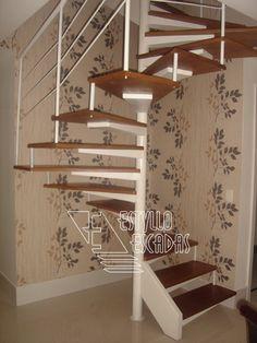 Escada semi-caracol - Ref G2SC#001