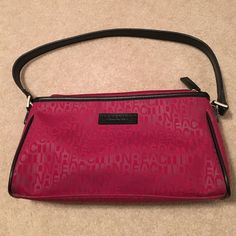 Kenneth Cole Reaction shoulder bag Red Leather Kenneth Cole Reaction shoulder bag. Pockets in each side and one inside. Kenneth Cole Reaction Bags Shoulder Bags