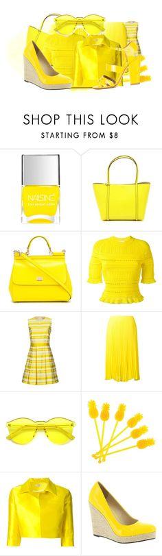 """""""YELLOW FASHION"""" by cocodesign-1 ❤ liked on Polyvore featuring Nails Inc., Dolce&Gabbana, 3.1 Phillip Lim, RED Valentino, Loyd/Ford, Sunnylife, P.A.R.O.S.H., Michael Antonio and Laurence Dacade"""