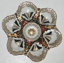 Antique Oyster Plate with Moorish Design - Alhambra