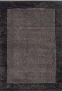 Teppich Wohnzimmer Carpet Modernes Design ASCOT UNI RUG 100 Wolle 120x170 Cm Rechteckig Dunkelbraun