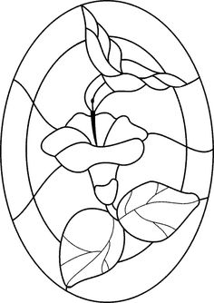 Hummingbird in Flower stained glass Pattern