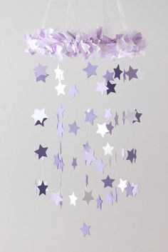 Star Mobile- Shades of Lavender & White    ♥♥♥PLEASE READ BEFORE PURCHASE!!! : All mobiles are HANDMADE TO ORDER, they are NOT premade. Please
