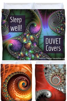 Duvet covers in beautiful colors for your bed - buy your duvet cover in  King, Queen, Full and Twin size here: http://matthias-hauser.artistwebsites.com/art/digital+art/all/duvet+covers?sort=bestsellers Fascinating Fractals and other art for your bedding. (c) Matthias Hauser hauserfoto.com