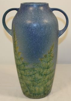 Roseville Pottery Windsor Blue Floor Vase