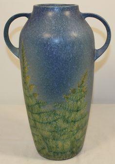 Roseville Pottery Windsor Blue Floor Vase