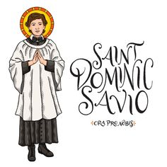 "Catholic Paper Goods on Instagram: ""Saint Dominic Savio, ora pro nobis!! . . . . . . . . . . #orapronobis #saints #catholicsaints #catholicfaith #catholiccoloringpages…"""