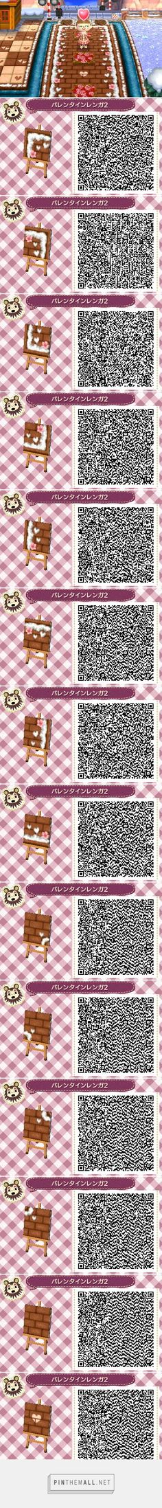 QR path: Sakura and snow border brown bricks w hearts accents