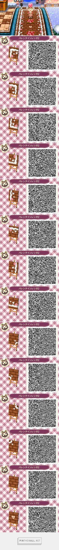 Sakura and snow border brown bricks with hearts accents