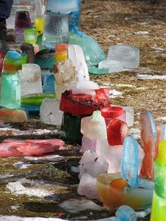 Love this idea of ice sculptures as a winter art project!