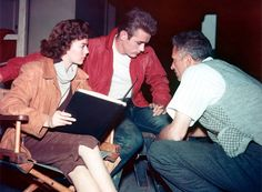 James Dean and Natalie Wood at Rebel Without a Cause (1955) set. Also links to lot lots of other great behind-the-scenes photos.