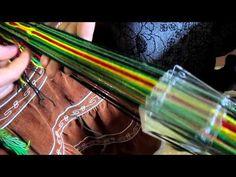 Ткачество на дощечках с перебросом. Урок А.Воронцовой - YouTube