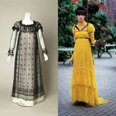 356 vind-ik-leuks, 8 reacties - Mia Kivialho (@ohgloomysunday) op Instagram: 'Couldn't not notice the similarities between the yellow Erdem dress (Vogue Japan) and regency…'