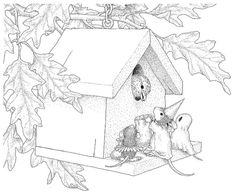 Stampendous - Cling Mounted Rubber Stamp - House Mouse Trick or Tweet,$8.99