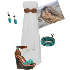 Beach Wear 2012- wedges, teal, hi-low dress- all in current style and hot!